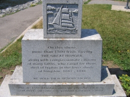 Image result for irish famine memorial kingston